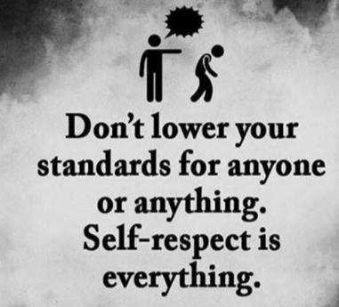 Self-Respect matters…
